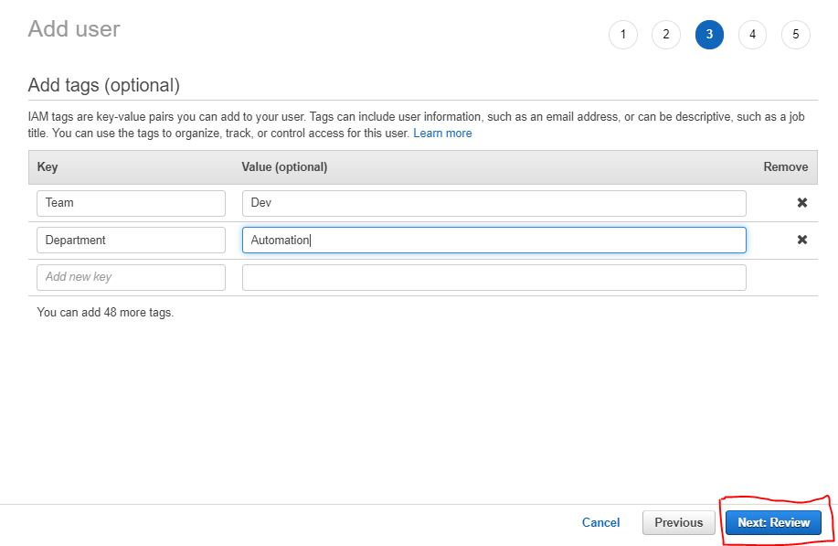 How to create an IAm user in aws step by step 7