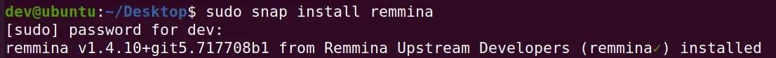 install-latest-remmina-using-snap