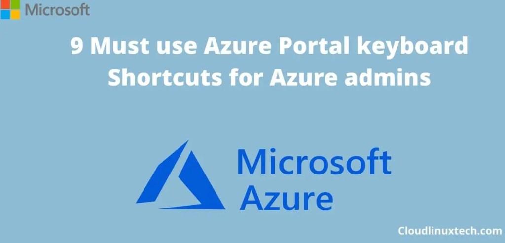 Azure-portal-keyboard-Shortcuts