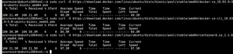 Download-Docker-packages-using Curl-to-install-docker