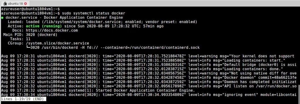 how-check-docker-status