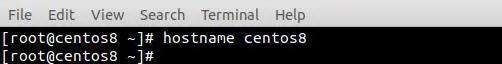 ping-centos8-hostname