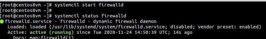 start-firewall-on-centos8