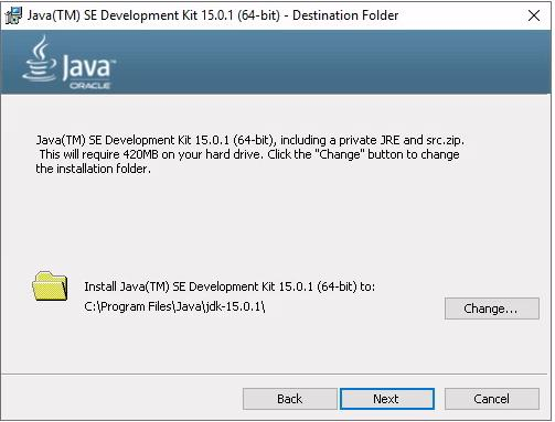 Java-runtime-default-installation-folder