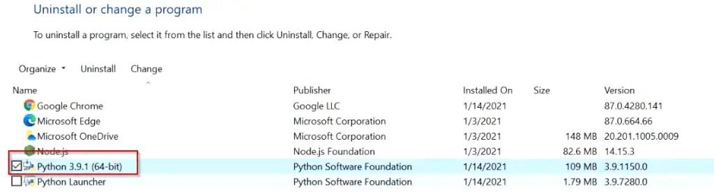 How-to-uninstall-Python-windows10