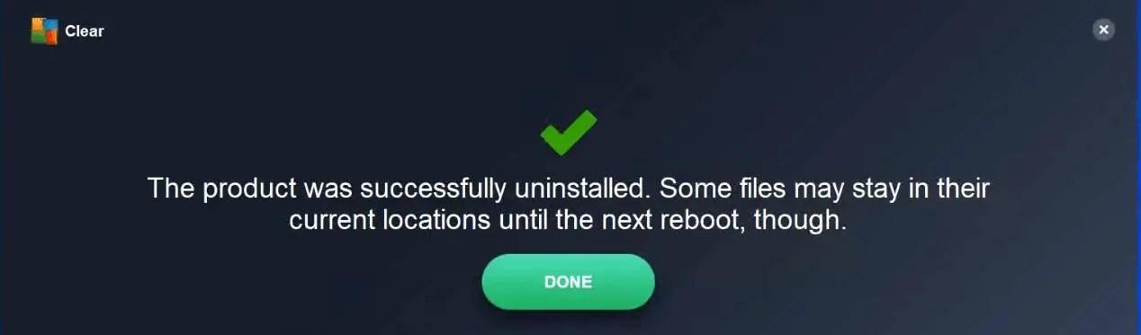 reboot-windows10-to-clean-AVG-antivirus