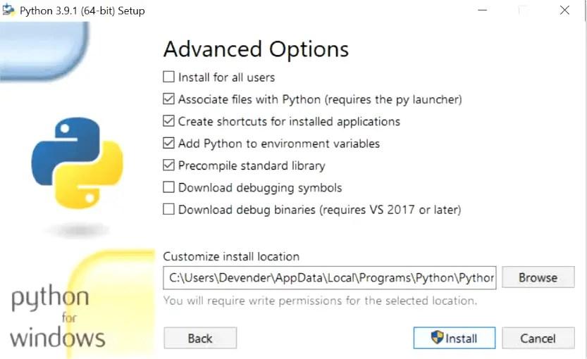 select-advance-options-python