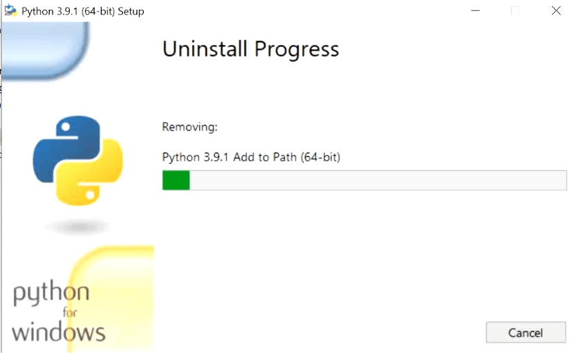 remove-python-windows-10