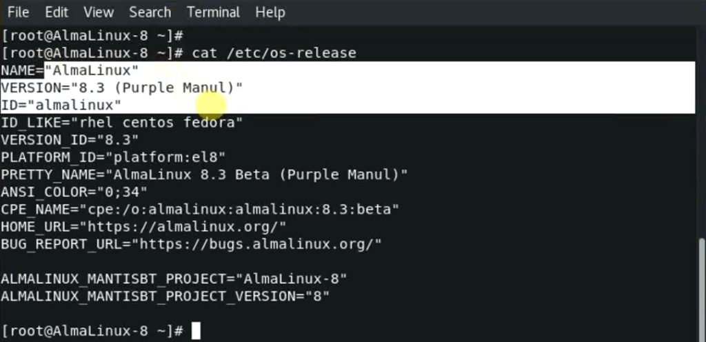check-AlmaLinux-version