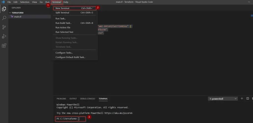 open-terminal-in-visual-studio-code-editor