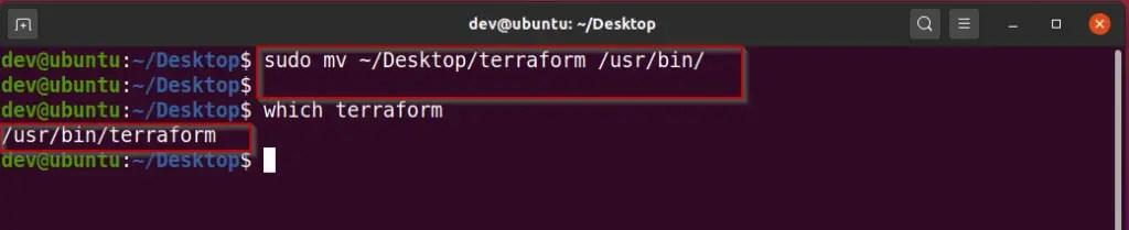 setup-terraform-path-variable