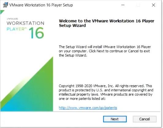 VMware-workstation-setup-wizard-welcome-screen