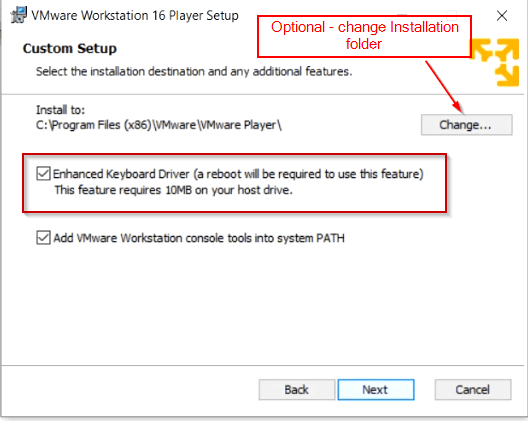 select-VMware-additonal-features