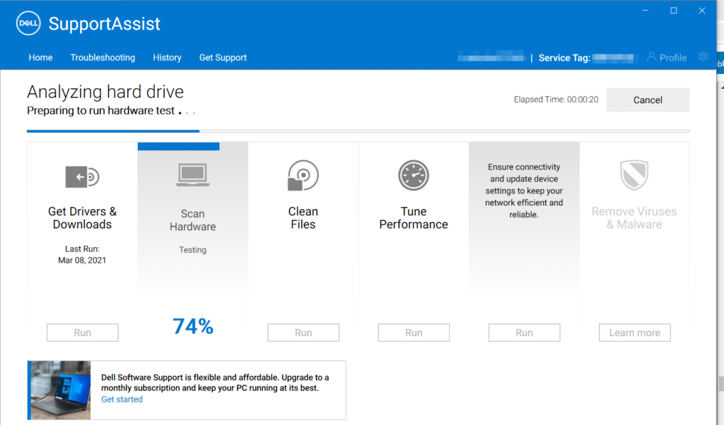 Dell-support-assistant-tests