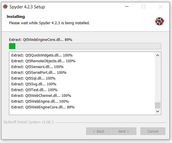 install-spyder-4.2.3-progress-bar