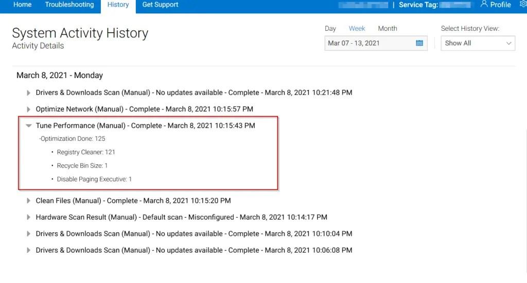 Dell-supportAssist-logs