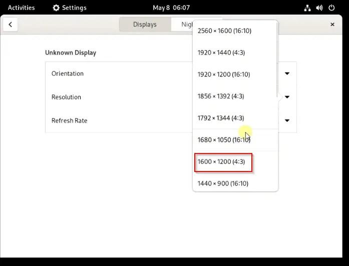 setup-Fedora-screen-resolution