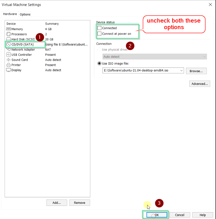 disconnect-ubuntu-iso-image
