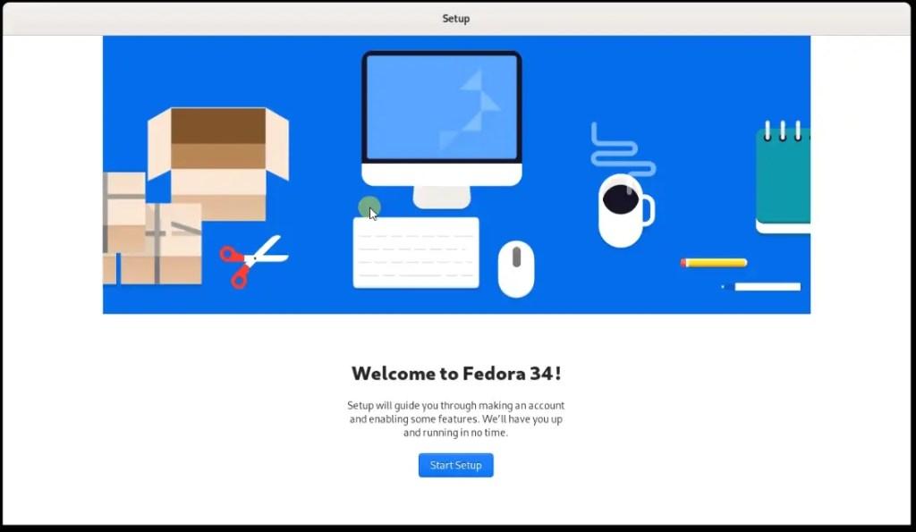 Fedora-34-welcome-setup-wizard