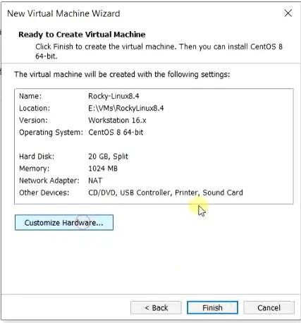 Customize Rocky Linux hardware