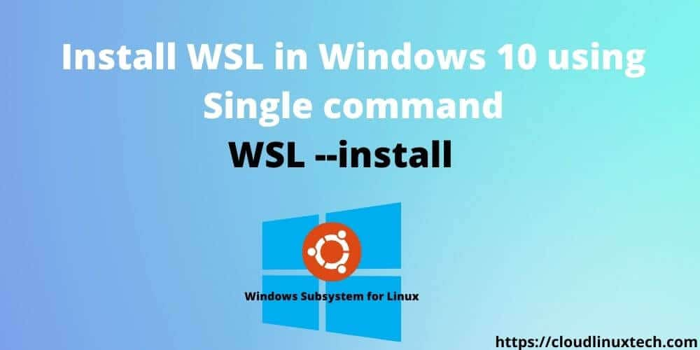 Install-WSL-in-Windows-using-Single-command