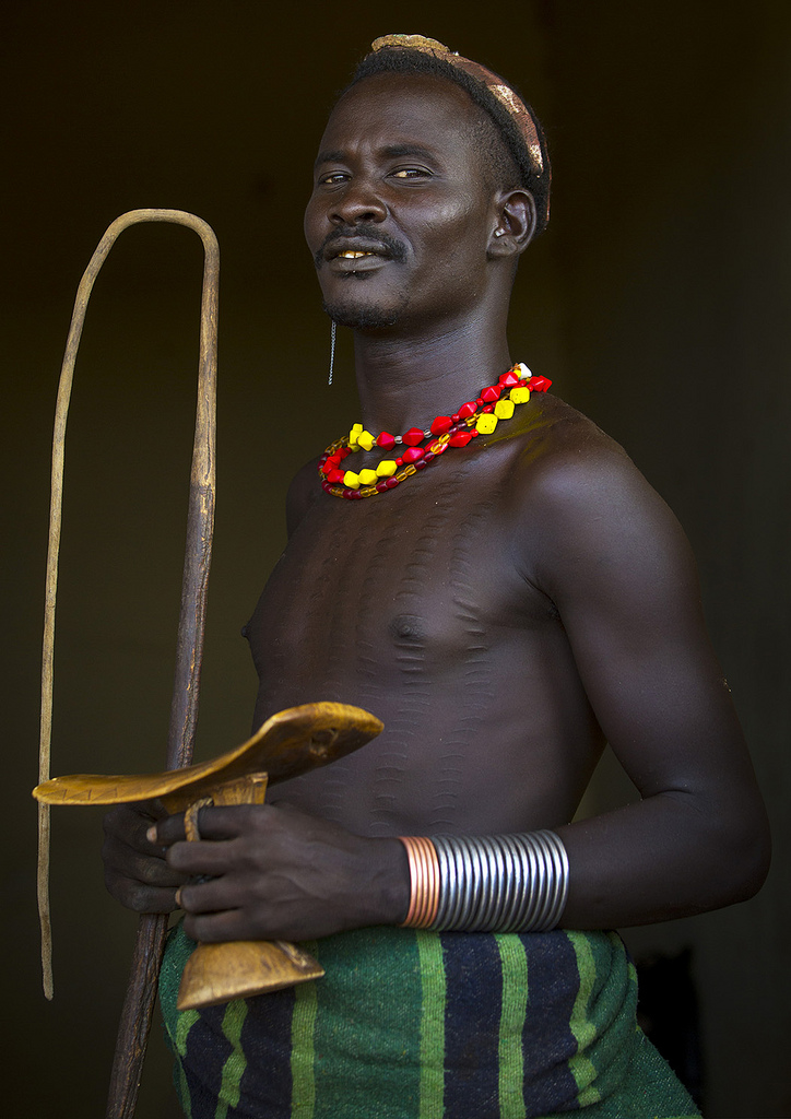 African Tribes Blue Hair