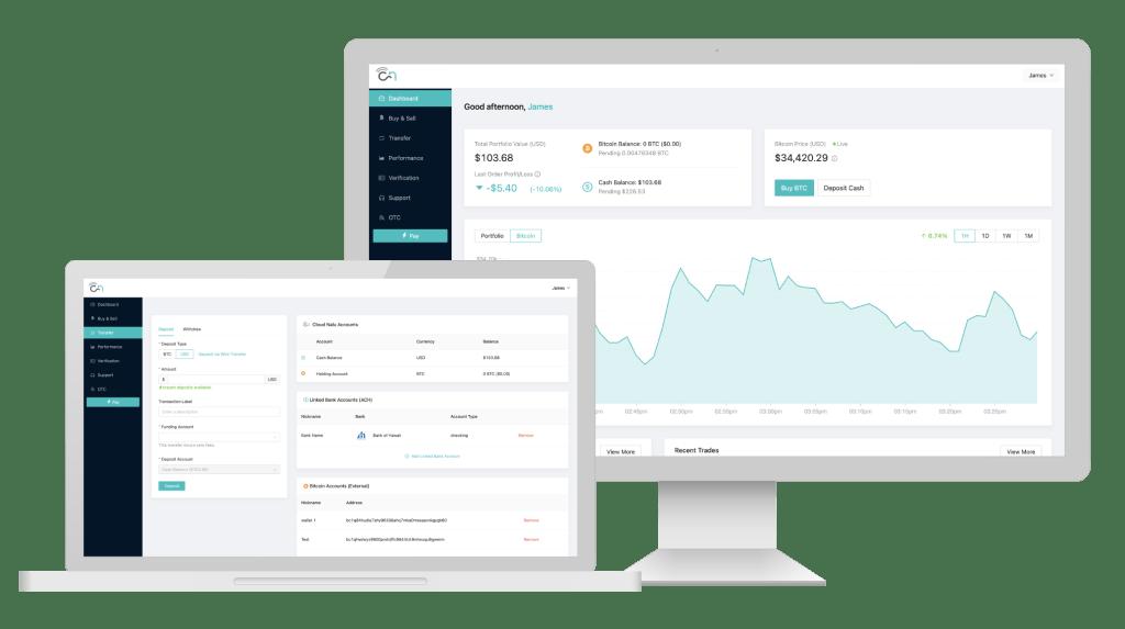 Cloud Nalu Bitcoin Services App