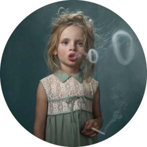 child smoking cigarette