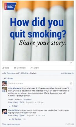 American Cancer Society Facebook Survey