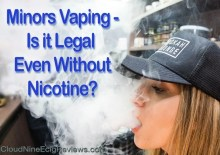 Minors Vaping Is it Legal without nicotine