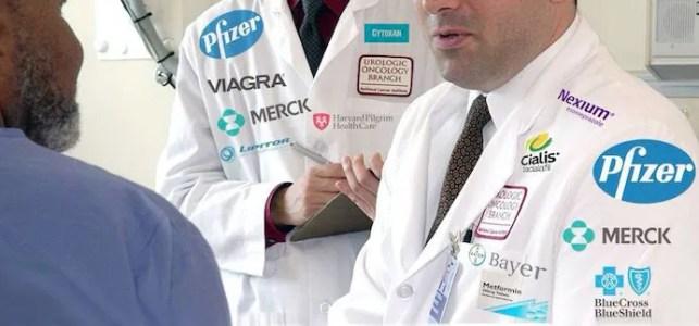 Doctors wearing drug company logos-cloudnineecigreviews.com