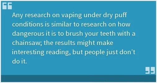 Dr. Farsalinos - Facts about Dry Puff Vaping