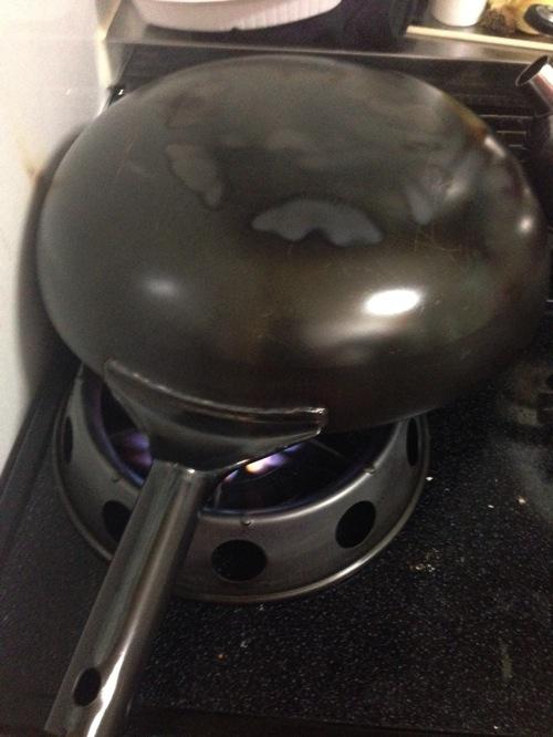 中華鍋 空焼き