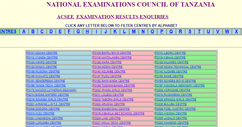 NATIONAL EXAMINATION RESULTS FOR ACSEE 2020 (Form 6 Matokeo 2020/2021)