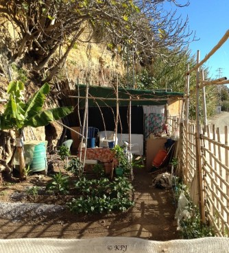 Paco's gaff with his tidy garden