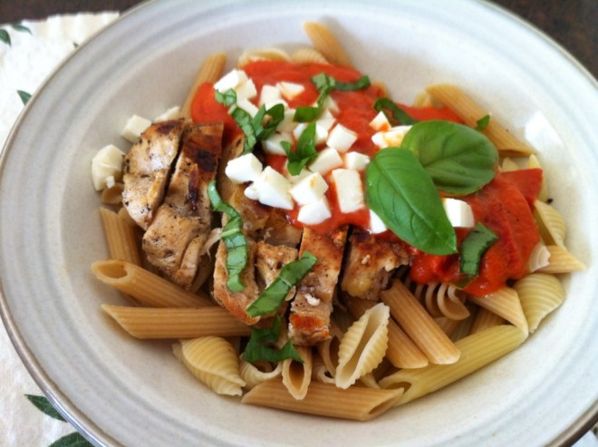 Grilled Chicken Pasta with Roasted Tomato Pepper Sauce 2