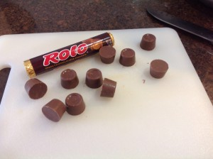 Rolo Blondies Rolo Candies