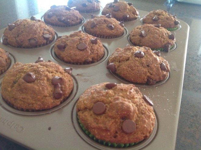 Pumpkin Chocolate Chip Muffins finished