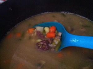 Snow Day Soup ready to serve