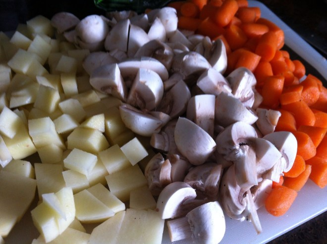 Snow Day Soup Veggies