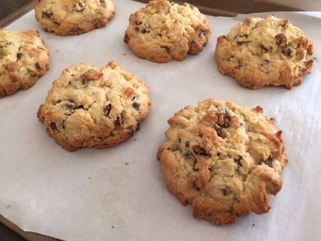 chocolate chip cookie baked