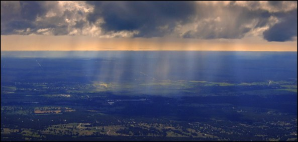 Shower and sunbeams