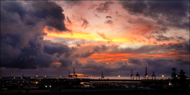 Fremantle Harbour sunset CG