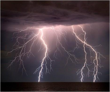 City beach lightning_1s
