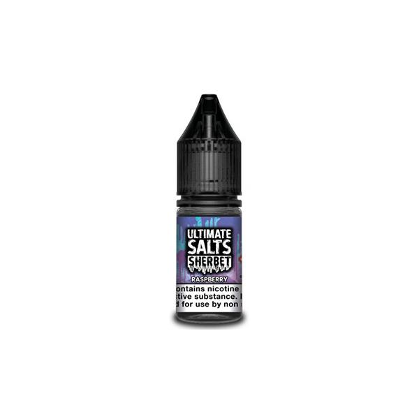 Ultimate Puff Salts Sherbet 10ML 10Mg  Flavoured Nic Salts E-liquid, Cloud Vaping UK