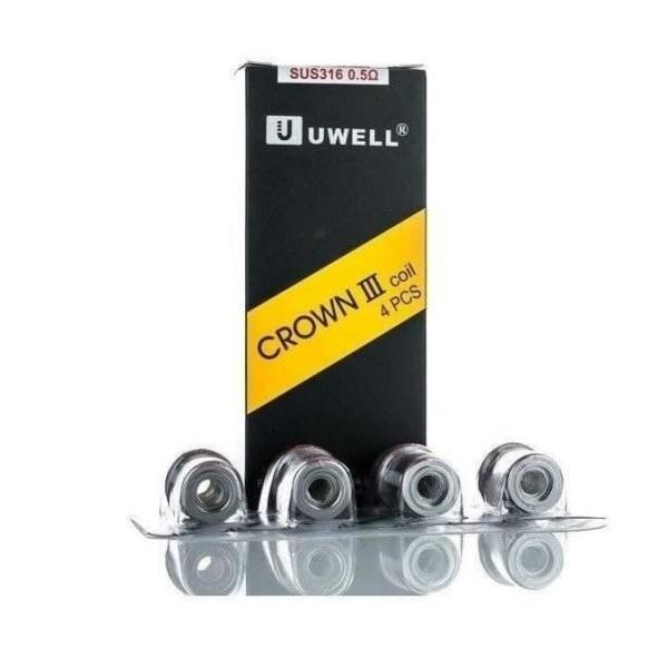 Uwell Crown 3 Coils – 0.25/0.4/0.5 Ohms, Cloud Vaping UK