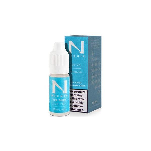 Ice Cool Nic Shot 10ml 18Mg by Nic Nic E-liquid, Cloud Vaping UK