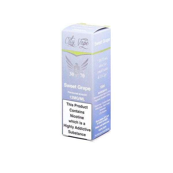 City Vape 12mg 10ml Flavoured E-liquid (30VG/70PG), Cloud Vaping UK