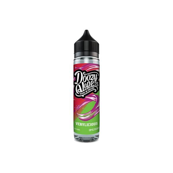 Doozy Vape Co Fruit Collection 0mg 50ml Shortfill E-liquid, Cloud Vaping UK