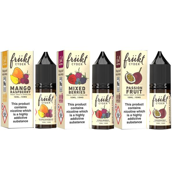 Frukt Cyder 10ml Flavoured Nic Salts 20Mg E-liquid, Cloud Vaping UK